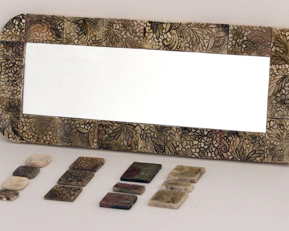 raku tükrök különböző mintával és nagyságban